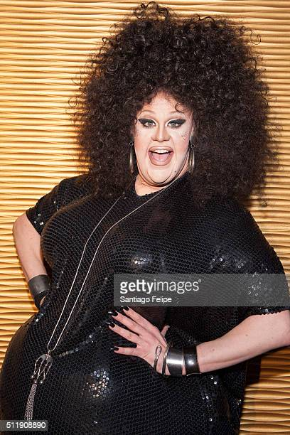 Thorgy Thor attends Logo's RuPaul's Drag Race Season 8 Premiere at Stage 48 on February 22 2016 in New York City