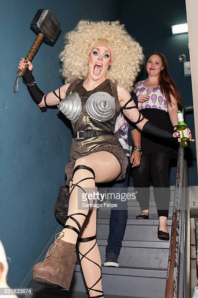 Thorgy Thor attends RuPaul's Drag Race Season 8 Finale Party at Stage 48 on May 16 2016 in New York City