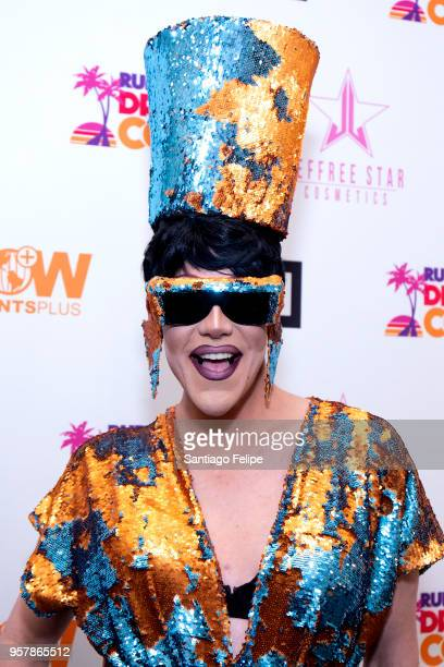 Thorgy Thor attends the 4th Annual RuPaul's DragCon at Los Angeles Convention Center on May 12 2018 in Los Angeles California