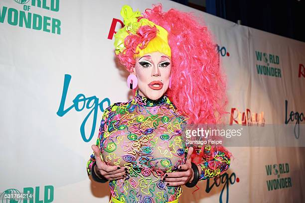 Thorgy Thor attends the RuPaul's Drag Race Season 8 Finale Party at Stage 48 on May 16 2016 in New York City