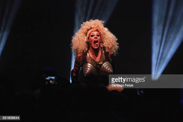 Thorgy Thor performs onstage during the RuPaul's Drag Race Season 8 Finale Party at Stage 48 on May 16 2016 in New York City