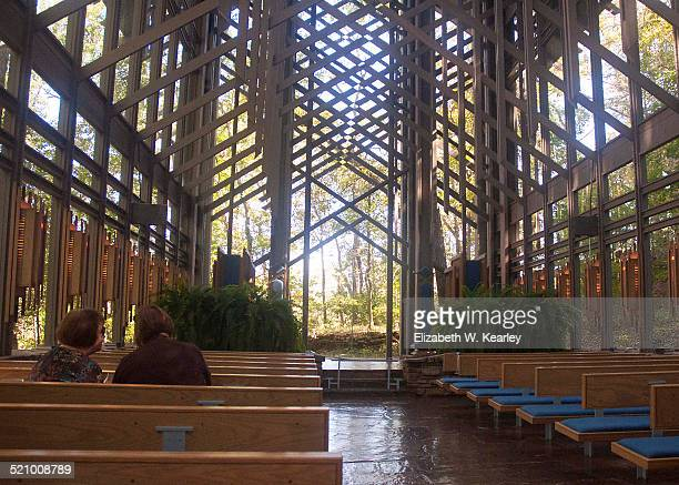 Thorncrown Chapel is the glass church in the woods