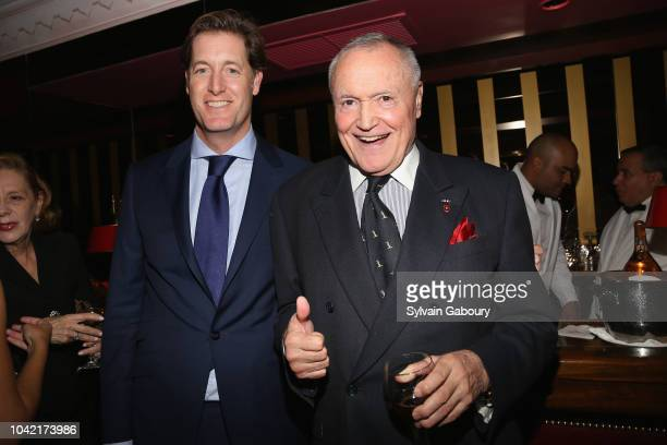 Thorne Perkin and Chuck Pfeifer attend David Patrick Columbia And Chris Meigher Toast The QUEST 400 At DOUBLES on September 27 2018 in New York City