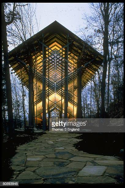Thorngrown Chapel designed by architect E Fay Jones