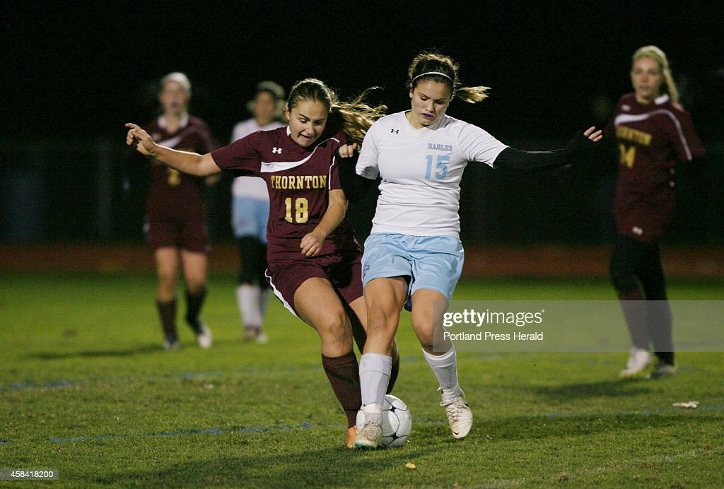 Thornton Academy vs. Windham girls soccer : News Photo