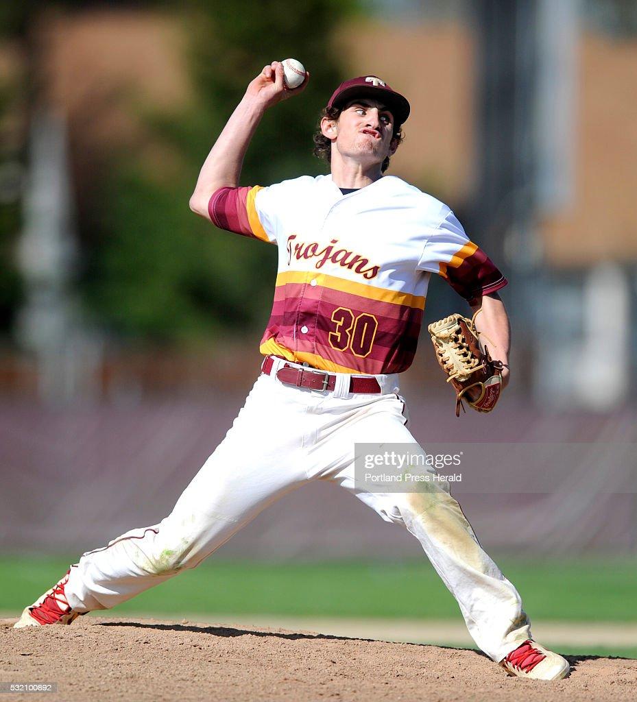 Thornton Academy vs Portland baseball. Benjamin Lambert of TA ...