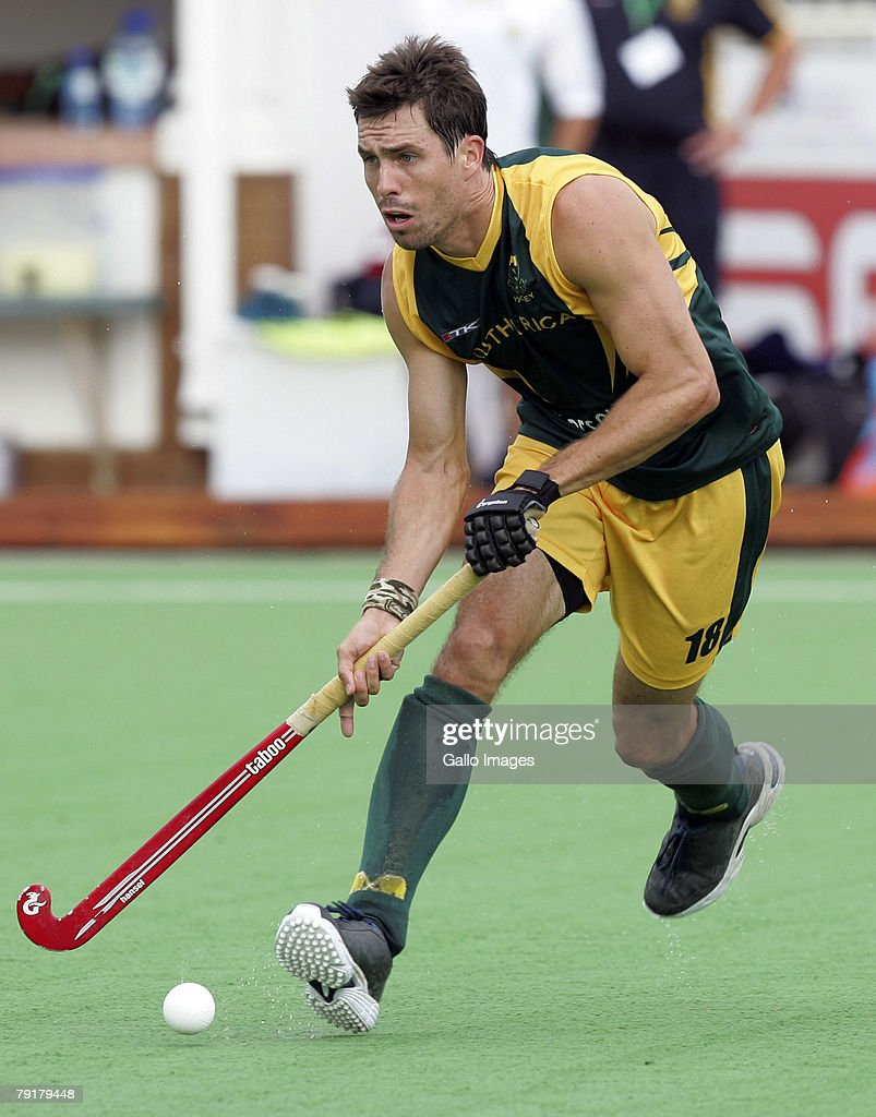 Thornton McDade of South Africa during the Five Nations Mens Hockey tournament match between South Africa and Germany held at the North West University hockey centre on January 23, 2008 in Potchefstroom, South Africa.
