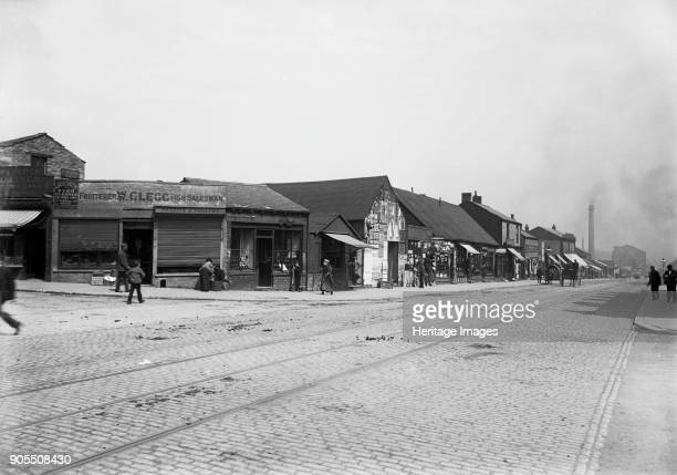 Thornton Road Manningham Bradford 1890s A view looking east along the north side of Thornton Road from the corner with Ingelby Road showing William...