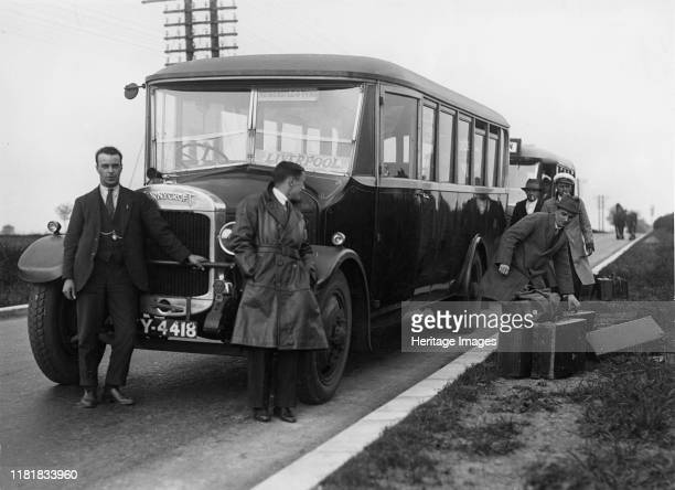 Thornycroft bus with passengers. Creator: Unknown.