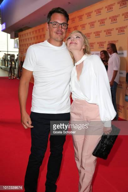 Thorsten Berg husband of Lisa Maria Potthoff and Johanna Gehlen wife of Sebastian Bezzel during the 'Sauerkrautkoma' premiere at Mathaeser Filmpalast...