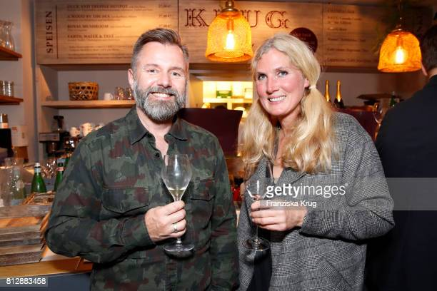 Thorsten Gueldner and Julia Thesenfitz attend the 'Krug Kiosk' Event on July 11 2017 in Hamburg Germany