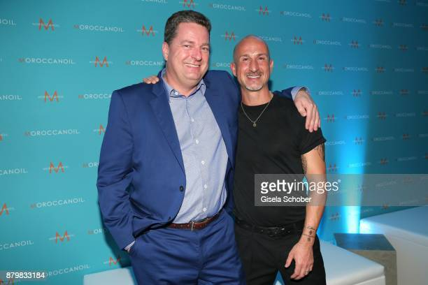 Thorsten H Kribber Managing director Kribber International Distributer Moroccanoil and Hair stylist Angelo Fracica during the New Faces Award Style...