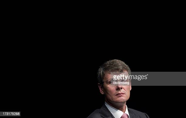 Thorsten Heins chief executive officer of BlackBerry listens during the company's annual general meeting in Waterloo Ontario Canada on Tuesday July 9...