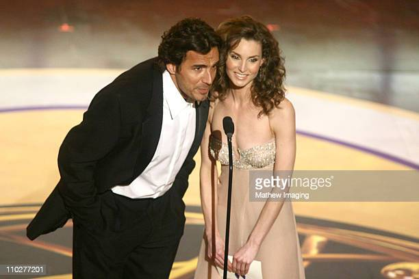 Thorsten Kaye and Alicia Minshew presenters during 33rd Annual Daytime Emmy Awards Show at Kodak Theater in Hollywood California United States
