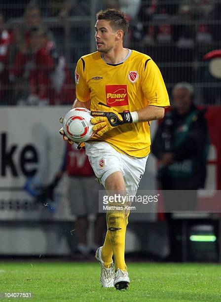 Thorsten Kirschbaum of Cottbus in action during the Second Bundesliga match between FC Energie Cottbus and Karlsruher SC at Stadion der Freundschaft...