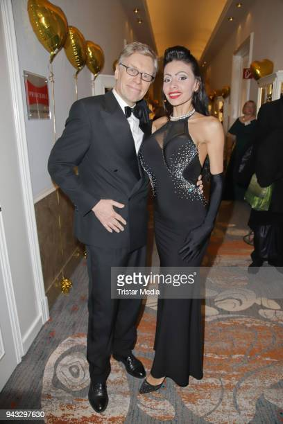 Thorsten Laussch and Vanya Campos during the 21st Blauer Ball at Hotel Atlantic on April 7 2018 in Hamburg Germany