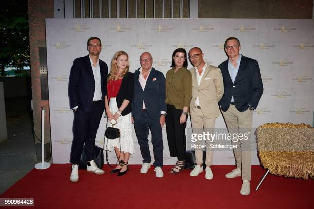 Thorsten Stiewe Anna Pedrini Andre Maeder Simone Heift Joerg Mietzke and Juergen Leuthe attend the 20 years event of Luisa Cerano at St Agnes Church...