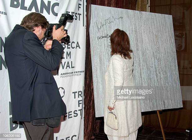 Thos Robinson and Rosanne Cash during The Montblanc De La Culture Awards at Angel Orensanz Foundation Center for the Arts in New York City New York...
