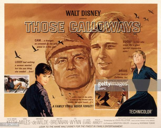 Those Calloways poster US poster from left Vera Miles Brian Keith Brandon De Wilde Linda Evans 1965
