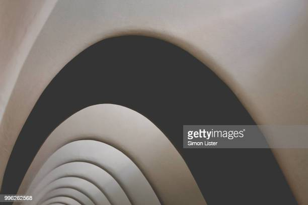 those curves! - antonio gaudi stock pictures, royalty-free photos & images