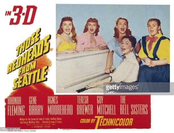 Those Redheads From Seattle US lobbycard Agnes Moorehead rear From left Teresa Brewer Rhonda Fleming The Bell Sisters Cynthia Strother Kay Strother...