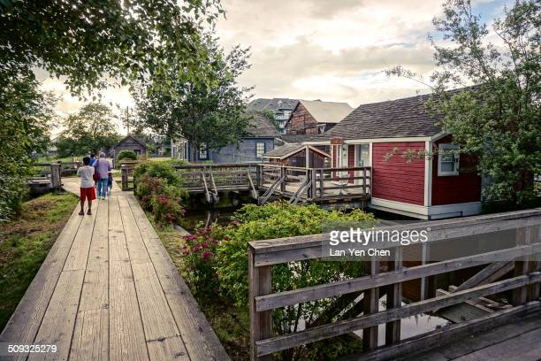 Those Stilt Houses built in the late 1800's as fisherman's dwellings are located in Steveston Britannia Shipyards National Historical Site in...