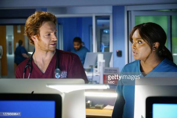 """Those Things Hidden In Plain Sight"""" Episode 602 -- Pictured: Nick Gehlfuss as Dr. Will Halstead, Marlyne Barrett as Maggie Lockwood --"""