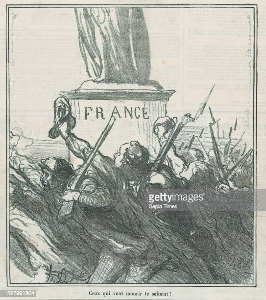Those who are about to die, salute thee, from 'News of the day,' published in Le Charivari, September 2 'News of the day' , Honore Daumier ,...
