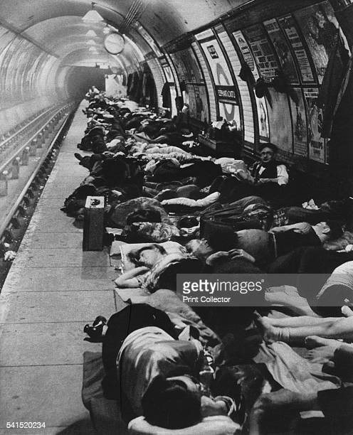 Those who went to shelters began a new kind of nightlife 11th November 1940' 1942 London residents taking shelter in Elephant and Castle tube station...
