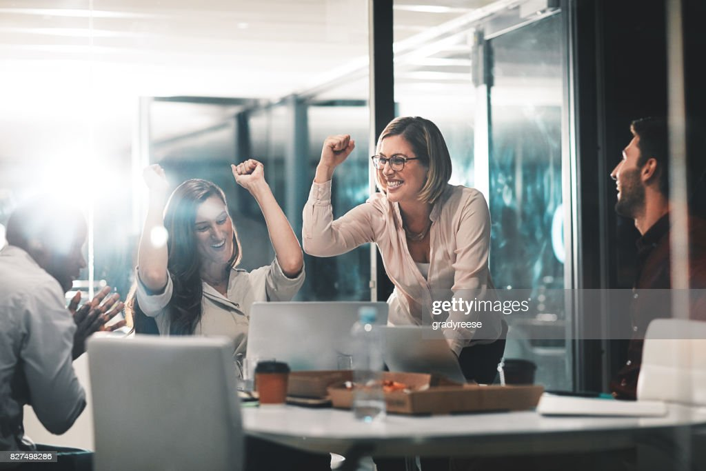 Those who work hard, win : Stock Photo