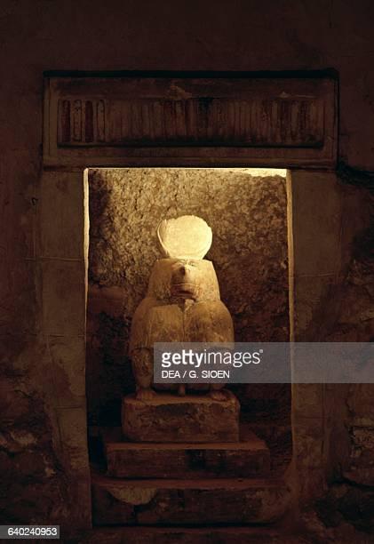 Thoth as a baboon sculpture necropolis of Khmun Tuna elGebel Egypt Egyptian civilisation Ptolemaic Kingdom