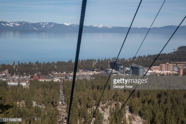 Though snow conditions at the top of Heavenly Mountain are good, skiers are noticing a number of dry spots as they venture up the gondola on March 5...