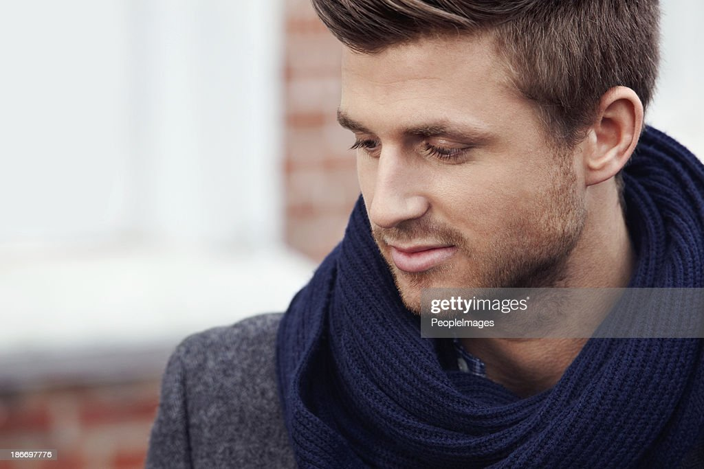 Thoughtful and stylish : Stock Photo