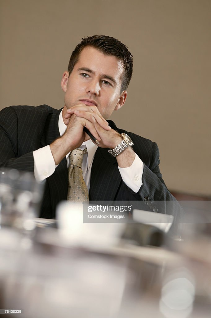 Thoughtful businessman : Stockfoto