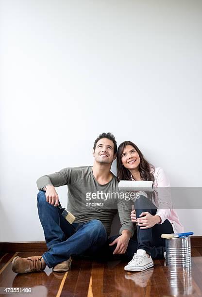 心配りの行き届いたカップルは家の絵画