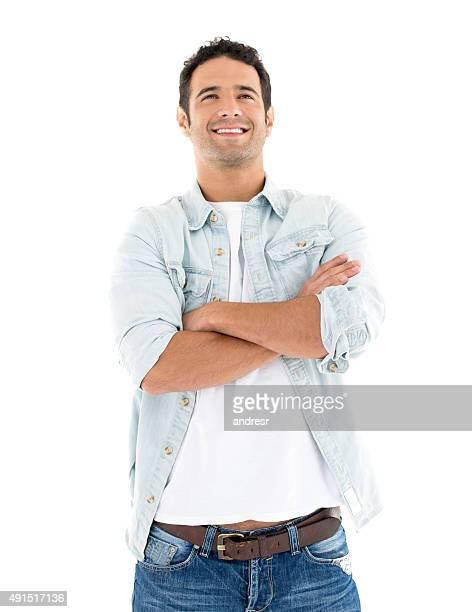 Thoughtful Latin American casual man