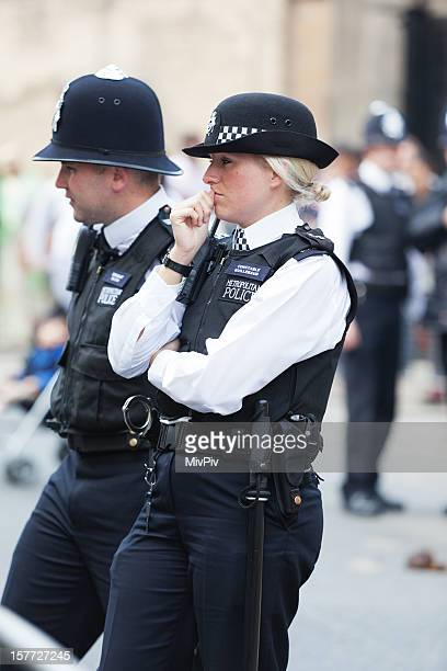 Thoughtful London Metropolitan Police Officer