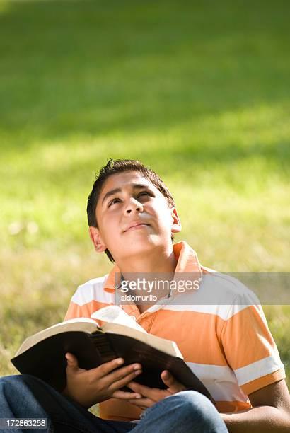 Thoughtful teen