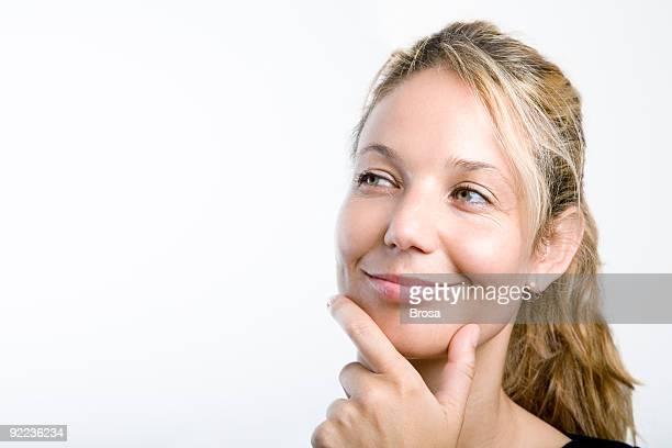 Durchdachte Frau