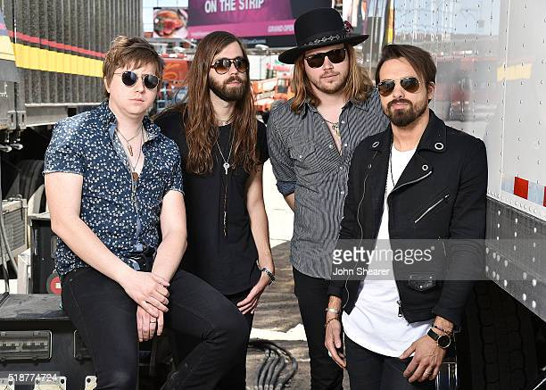 Thousand Horses Zach Brown Michael Hobby Graham DeLoach and Bill Satcher pose for a portrait at the 4th ACM Party For A Cause Festival on April 2...