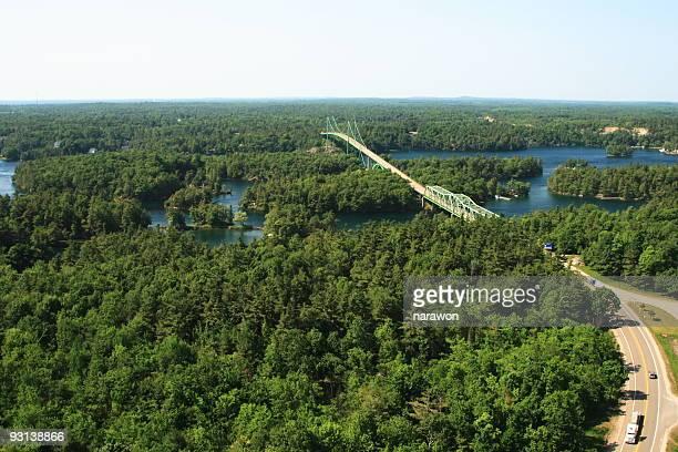thousand island bridge - ontario canada stock pictures, royalty-free photos & images