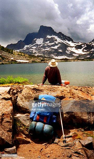 Thousand Island Lake featuring Banner Peak in the Ansel Adams Wilderness A popular area for backpackers and fisherman 12–miles north of Mamouth lakes...