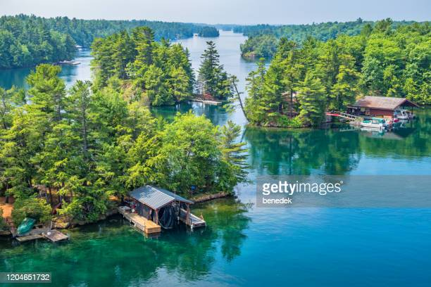 thousand islands national park canada and usa 1000 islands - river st lawrence stock pictures, royalty-free photos & images