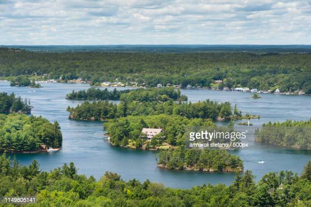 thousand islands - kingston ontario stock photos and pictures