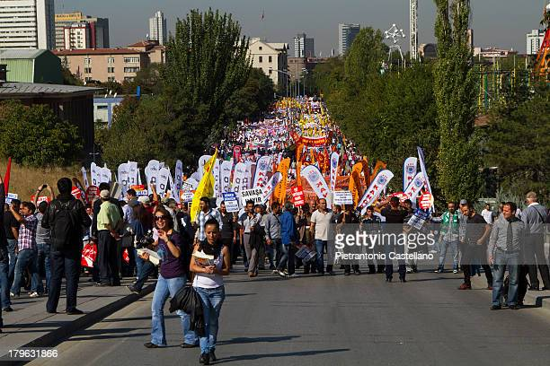 Thousand of demonstrators gather in Ankara to protest the government's policy that they consider discriminatory agaist Alevis, a religious minority.