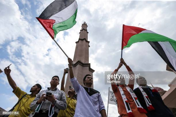 Thousand of Malaysia Muslim gather outside to protest the declaration of Jerusalem the capital of Israel at Masjid Putra Putrajaya on 22 December...