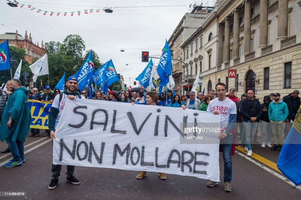 ITA: Right Party Lega Nord Rally In Milan