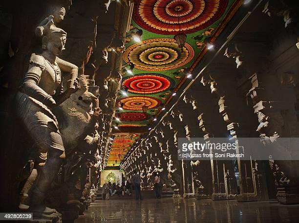 Thousand pillar hall at meenakshi temple, Madurai