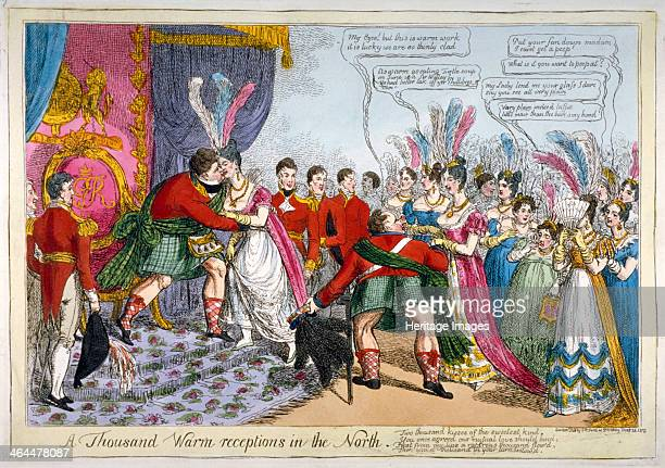 'A Thousand Warm Receptions in the North' 1823 A court at Holyroodhouse during George IV's Northern Excursion August 1822 The King in Highland...