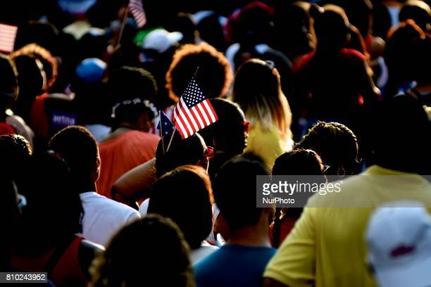 Thousands attend the WaWa Welcome America Independence Day concert on the Benjamin Franklin Parkway, in Philadelphia, PA, on July 4th, 2017.